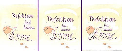 perfektioniert ohne Text